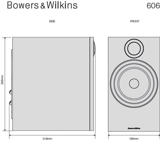 Bowers & Wilkins 606 Wit (per paar)