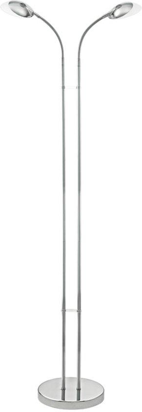 EGLO Canetal 1 - Vloerlamp - 2 Lichts - Chroom - Gesatineerd