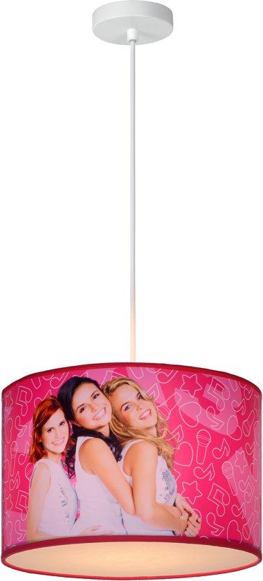 Lucide K3 - Hanglamp Kinderkamer - Ø 30 cm - Roze