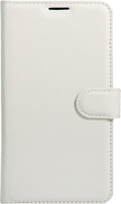 LG X5 horizontaal Litchi structuur PU leren Flip Hoesje met houder en opbergruimte voor pinpassen & geld wit
