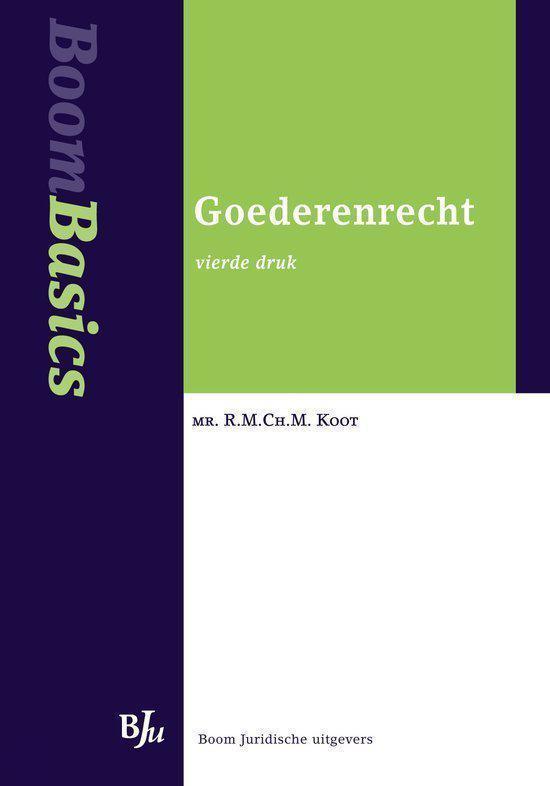 Cover van het boek 'Boom Basics Goederenrecht / druk 4' van mr. R.M.Ch.M. Koot
