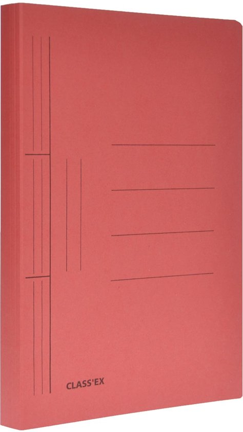 bol | class'ex hechtmap formaat 25 x 32 cm (voor formaat a4) kers