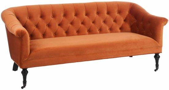 Awe Inspiring Bol Com Duverger Velvet Orange Sofa Velours Met Gmtry Best Dining Table And Chair Ideas Images Gmtryco