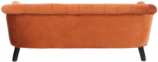 Duverger Velvet orange - Sofa - velours - met knopen - oranje -