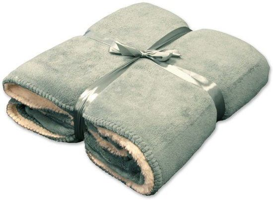Unique living Coby - Fleece - 130 x 160 cm - Groen