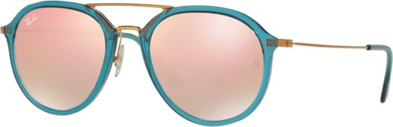 Ray-Ban RB4253 62367Y - zonnebril - Blauw Brons-Koper / Koper Gradiënt Flash - 50mm