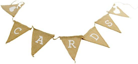 Ginger Ray Vintage Affair - 'Cards' slinger - 1,50 meter Valentinaa