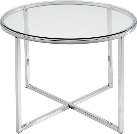 Bijzettafel Metaal Glas.Bol Com Fyn Create Bijzettafel Metaal Glas