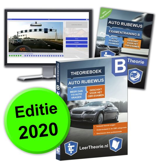 Afbeelding van Auto Theorieboek 2020 - Auto theorie oefenen - Theorie Leren Auto Rijbewijs B + 20 uur Online met CBR theorie Examens