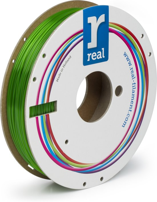 REAL Filament PETG transparant groen 1.75mm (500g)