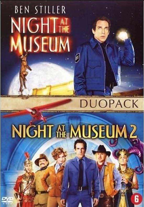Cover van de film 'Night At The Museum 1 & 2'