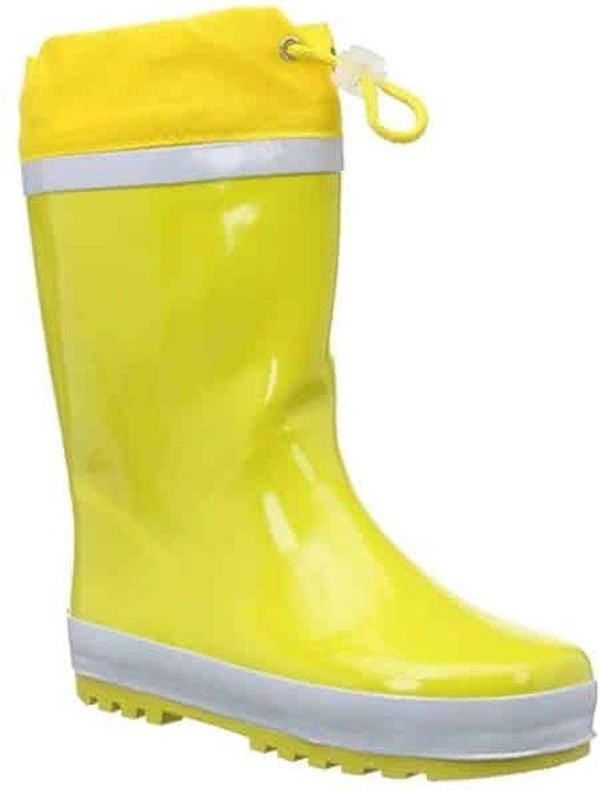 Playshoes Regenlaarzen met trekkoord Kinderen - Geel - Maat 24-25
