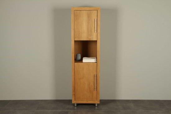Bol teakhouten badmeubel muria cabinet hoogte cm