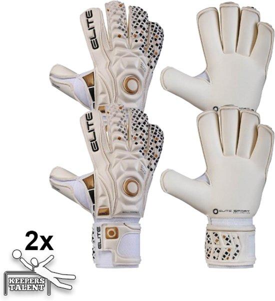 2 Paar Elite Real Keepershandschoenen - Maat 9