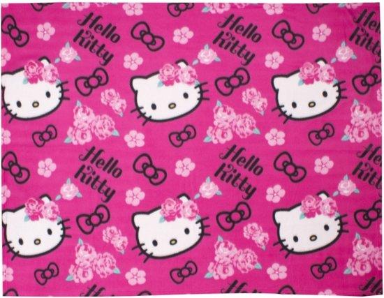 Hello Kitty Fleece Deken.Bol Com Hello Kitty Fleece Deken Plaid 150 X 120 Cm