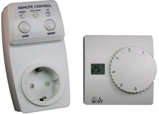 Thermosstaat basic remote schuko stopcontact plug manueel infrarood verwarming