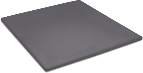Cinderella - Topper hoeslaken (tot 15 cm) - Katoen - 90x210 cm - Anthracite