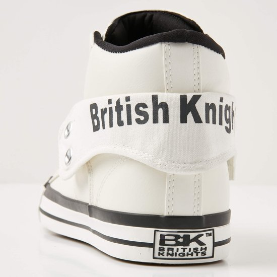 Wit Knights Heren Roco Maat Sneakers Hoog 43 British dqXawFna