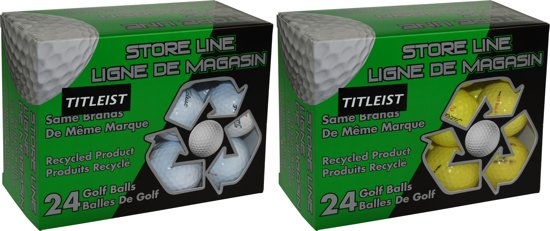 Titleist - Store-line recycle - 24 pack - wit/geel