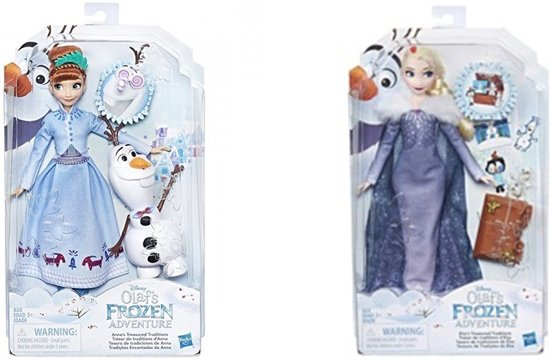 Hasbro Disney Frozen Tienerpop Anna Meisjes 28 Cm Blauw