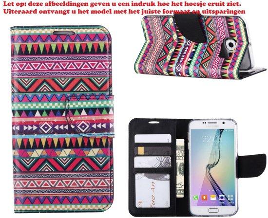 Cover voor Apple iPhone 6 Plus of iPhone 6S Plus Boek Cover Book Case Azteken Rood in Hoegaarden