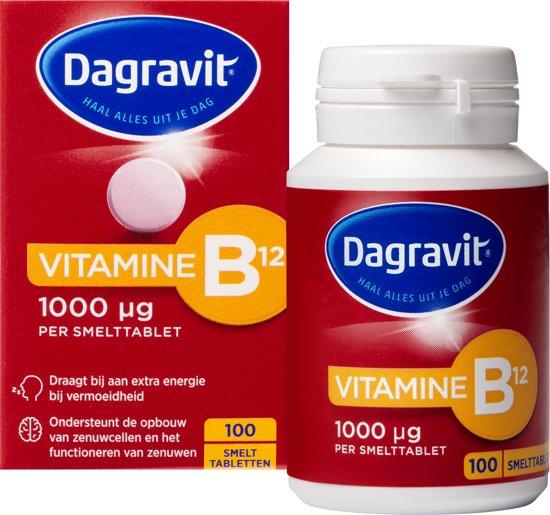 Dagravit Vitamine B12 1000 mcg tabletten - 100 stuks - Voedingssupplement