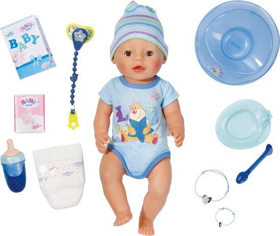 BABY born Interactieve Pop Blauw - Jongen - Babypop