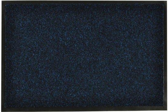 Modern effen deurmat Green & Clean - blauw 90x150 cm