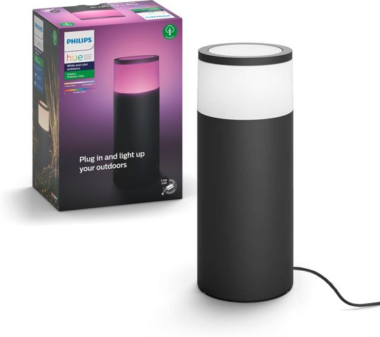 Philips Hue Calla starterkit - Sokkellamp - 1 Lichtpunt - zwart  - 1 x 640lm