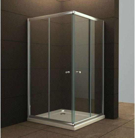 Douchecabine 80 X 80.Wiesbaden Eco Douchecabine Hoekinstap 80 X 80 X 190 Cm 5 Mm Helder Glas
