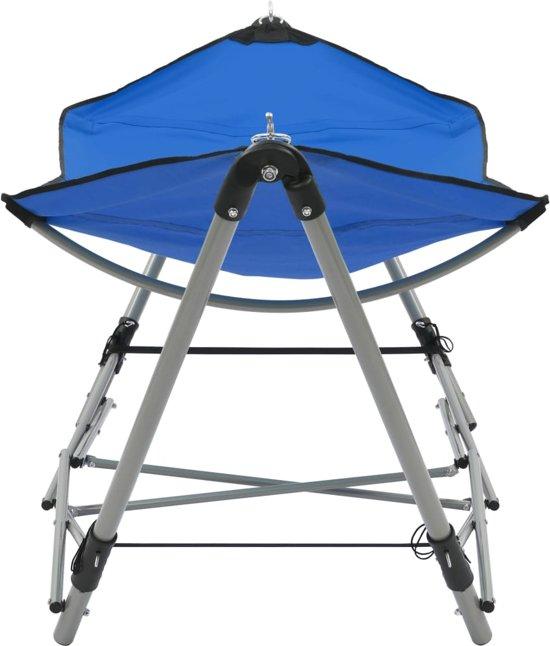 vidaXL Hangmat met inklapbare standaard blauw