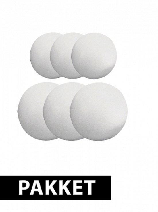 Piepschuim ballen pakket 6 stuks groot