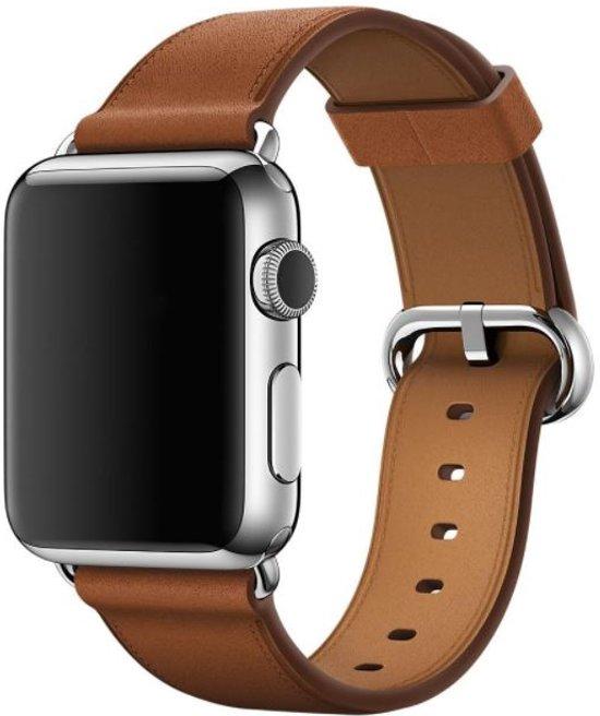 Bandje voor Apple Watch - Klassiek leer - 38mm - Bruin