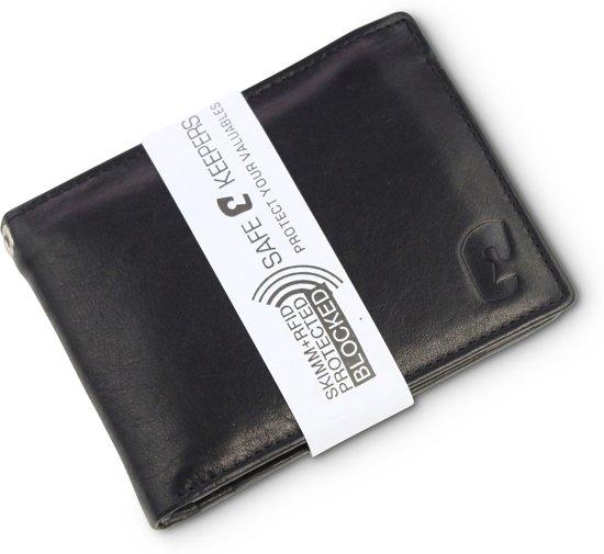 Heren Portemonnee Voor Veel Pasjes.Safekeepers Heren Portemonnee Large Rfid Echt Leer Dublin