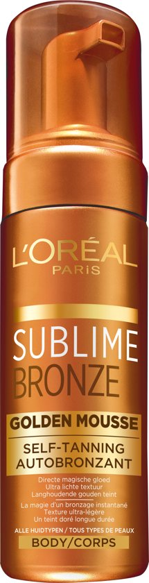 L'Oreal Paris Sublime Bronze - Mousse - 150ml - Zelfbruinende lotion