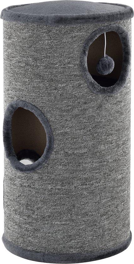 [en.casa]® Krabton - Krabpaal - grijs - 70 x 37cm