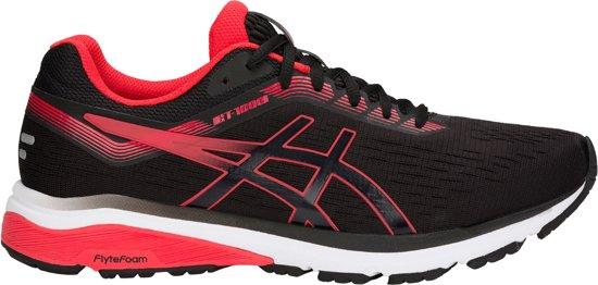 Asics GT-1000 7 Sportschoenen - Maat 44 - Mannen - zwart/rood