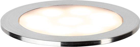 Special inb Allround rond IP67 LED 2700K 1x0,7W 12V 45mm satijn/kunststof/edelstaal 93829