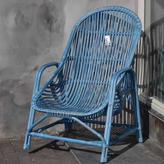 Ongebruikt bol.com | Ibiza rotan stoel blauw BY-03