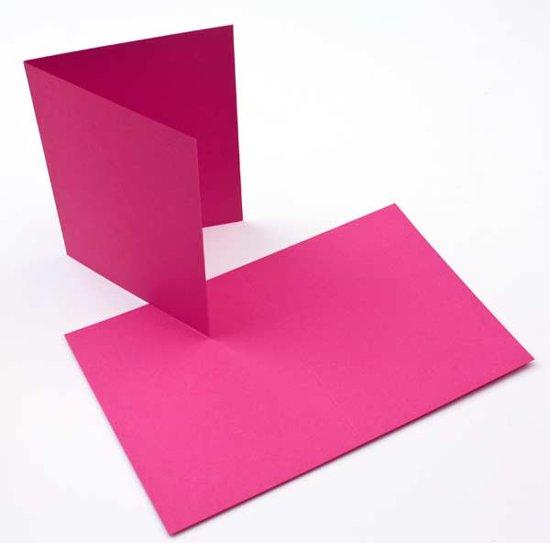 Kaarten Roze 14x10,8cm (50 stuks)