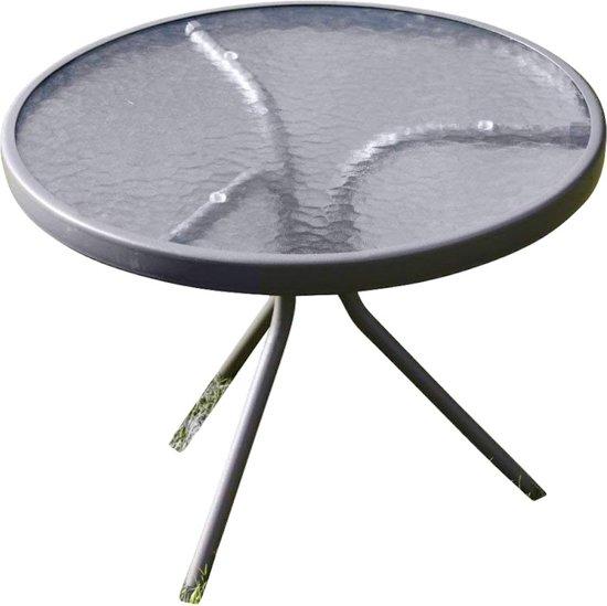 Glazen Bijzettafel Rond : Bol bijzettafel met metalen frame en glazen blad rond