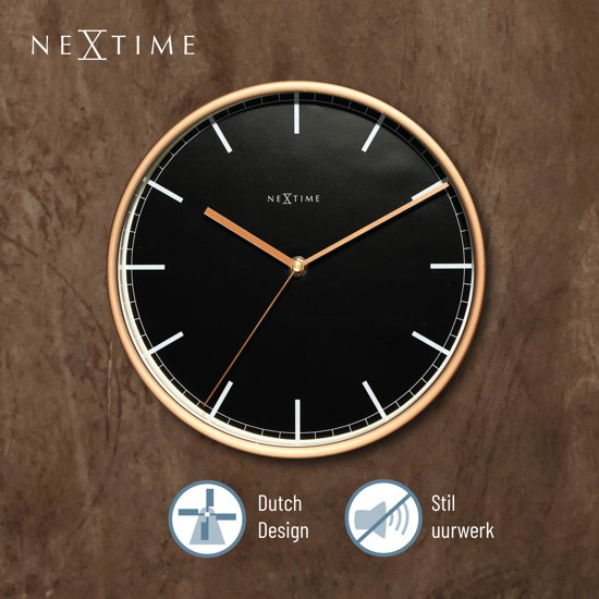 NeXtime Company Wandklok Strepen à 25 cm