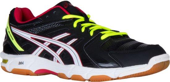 Asics Gel-Beyond 4 Indoorschoenen Heren Sportschoenen - Maat 40 - Mannen - zwart/wit/geel/rood