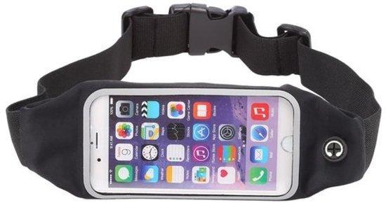 Sport Heupband - Hardloopband - Sportband - Hardloop Riem Met Smartphone Houder - Large Zwart