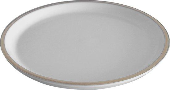 Platter Brisk round medium terracotta mouse grey