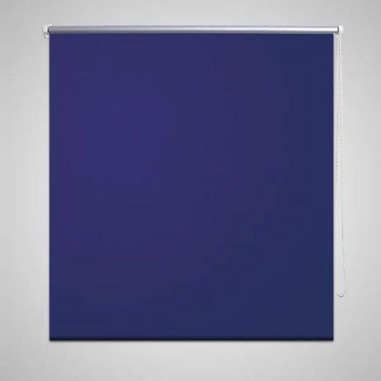 vidaXL - Rolgordijn verduisterend - Marineblauw - 160x175 cm