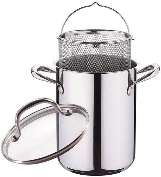 Aspergepan / Pastapan met deksel RVS (4,2 liter)