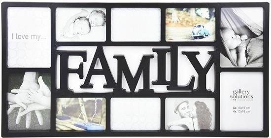 Fotolijst 10 Fotos.Bol Com Collagelijst Fotolijst Family Voor 10 Foto S Zwart