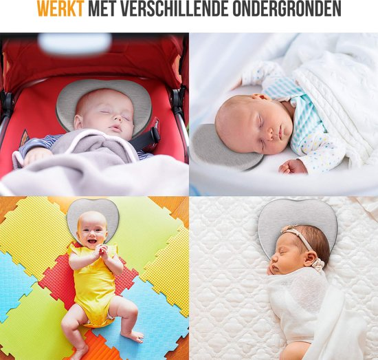 Baby Kussen | Plagiocefalie Kussen | Afgeplat Hoofdje | Hoofdkussen | Vormend Kussen | Kraamcadeau