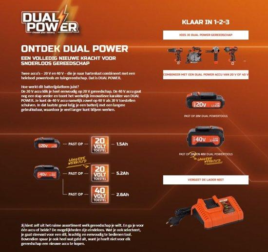 Powerplus Dual Power POWDPG7520 Bladblazer - 20V - (zonder accu)